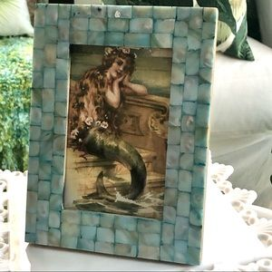 Turquoise Mother of Pearl 4x6 Frame